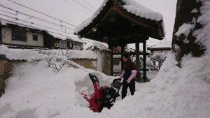 ゆきちゃんで雪かき