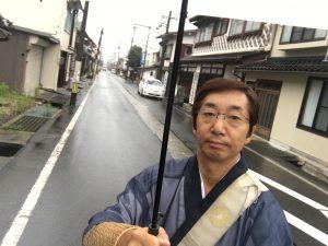 雨の若桜町を歩いて