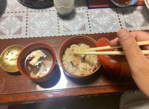 松茸ご飯とお吸い物!