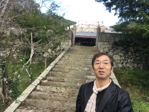 圓立寺さんの石段