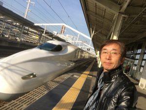姫路駅でのぞみ号に乗り換えて