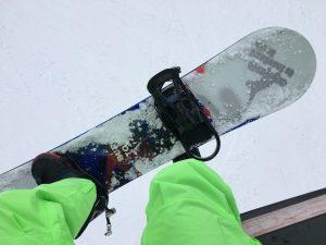 午後はスノーボードを!
