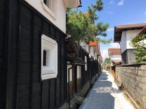 お寺の前の蔵通り