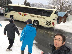 バスを見送る!