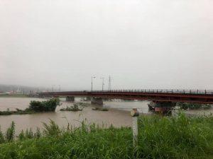 今日の千代川、午前11時頃