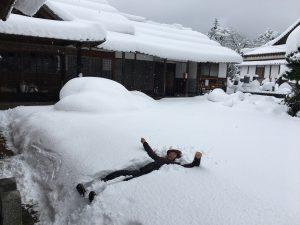 雪に埋もれて・・・