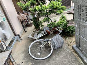 自転車が・・・