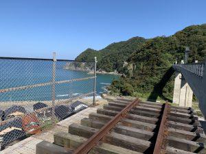 餘部鉄橋の旧線路