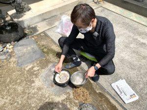 香炉の掃除
