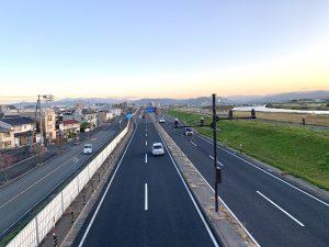 環状道路鳥取駅の方向