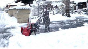 雪を飛ばして!