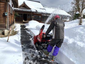 お借りした除雪機で