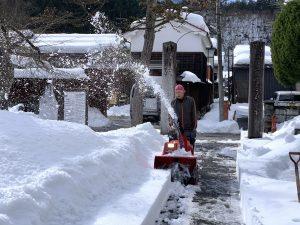 参道の除雪